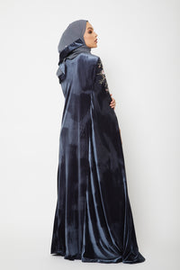 Petal Bloom Velvet Cape - Dior Grey