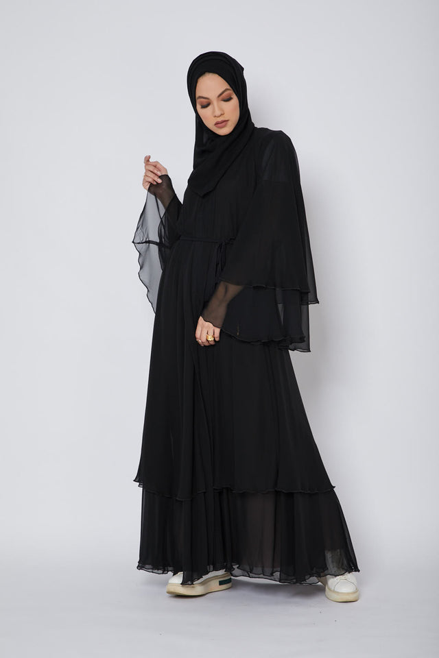Nightfall Layered Open Abaya