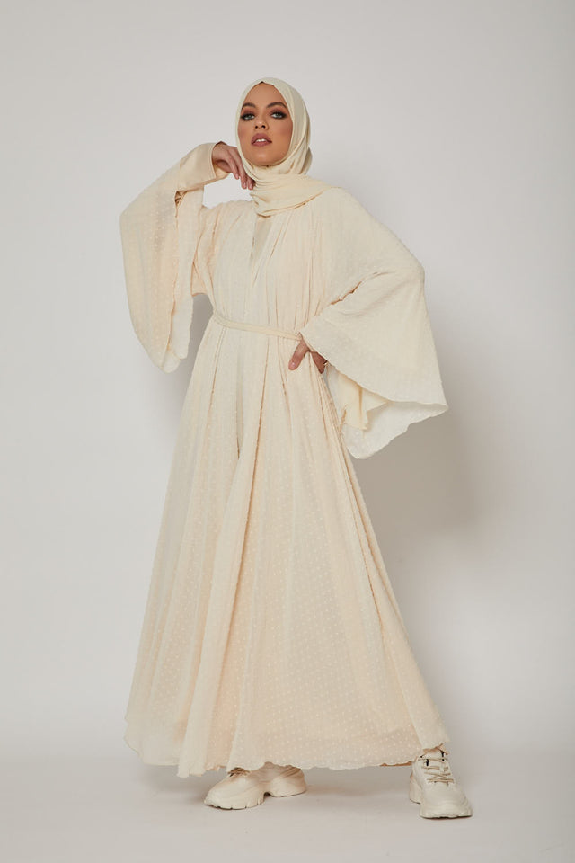 Lady Noir Open Abaya - French Riviera