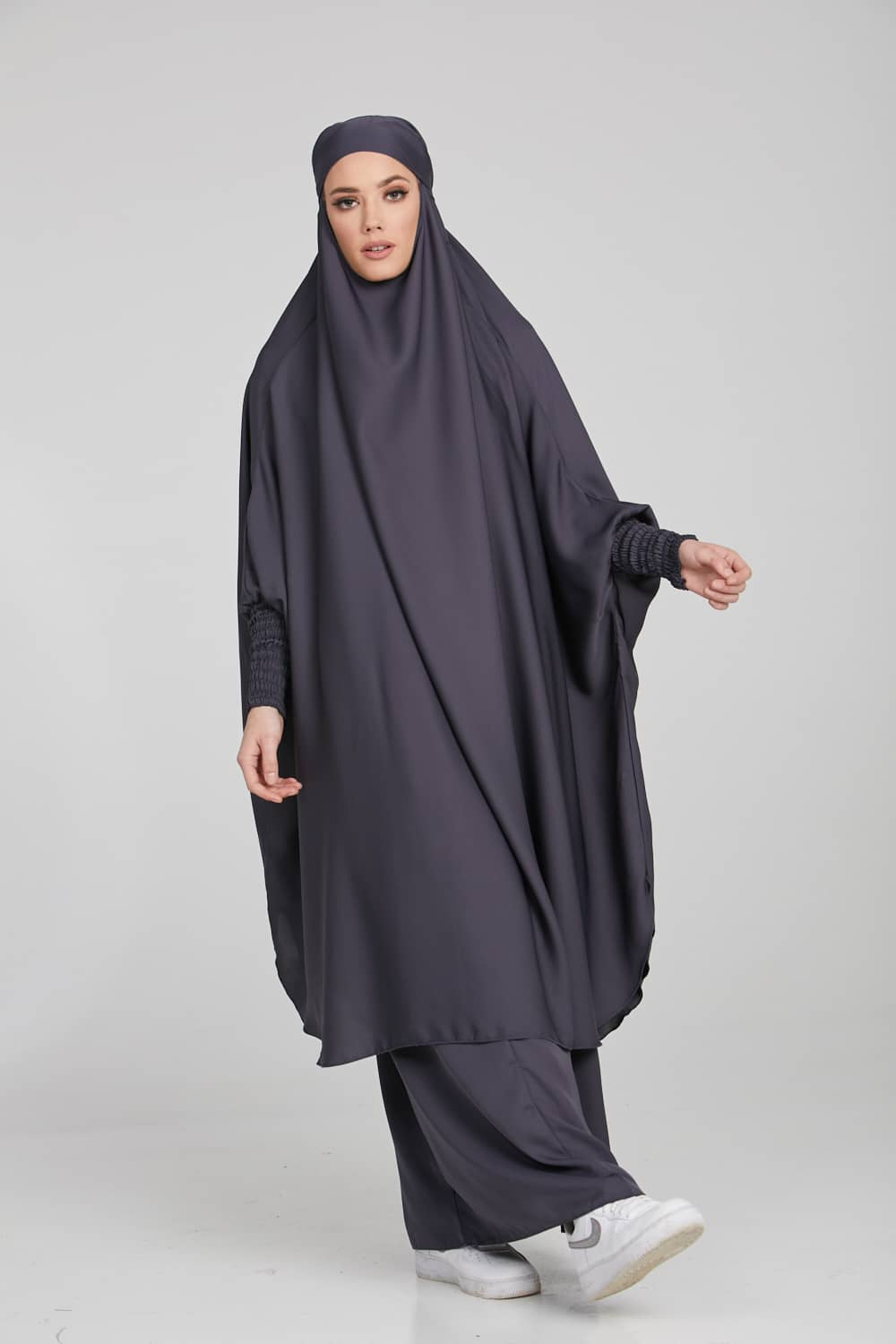 Two Piece Jilbab/Prayer Set - Pebble