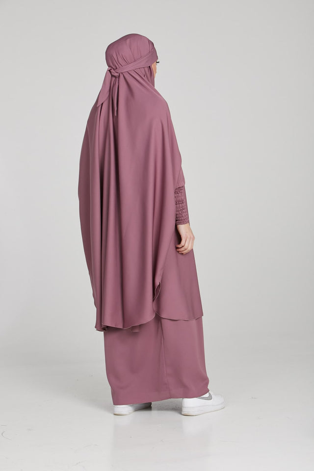 Two Piece Jilbab/Prayer Set - Rosewood
