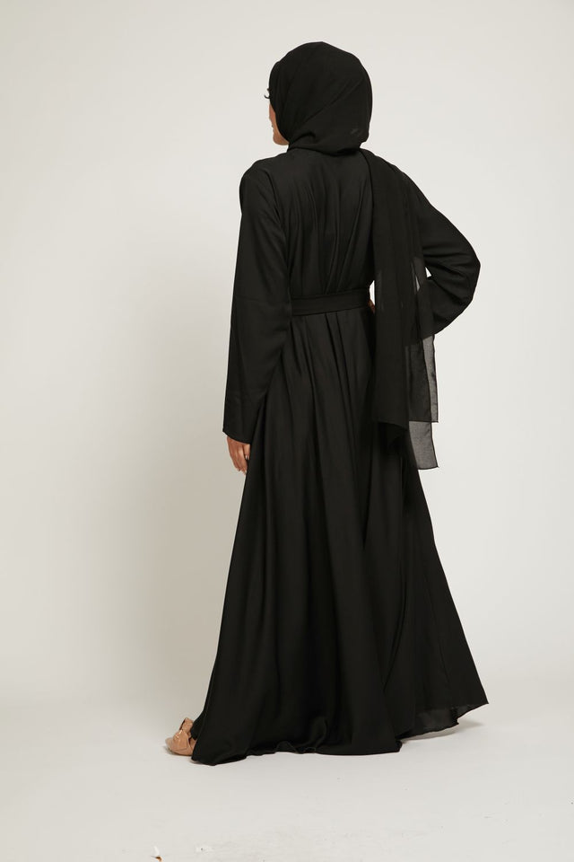 Black Umbrella Cut Abaya