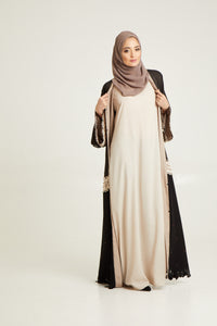 Cream Inner Slip Dress - LONG SLEEVE