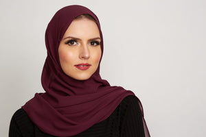 Berry Georgette Hijab
