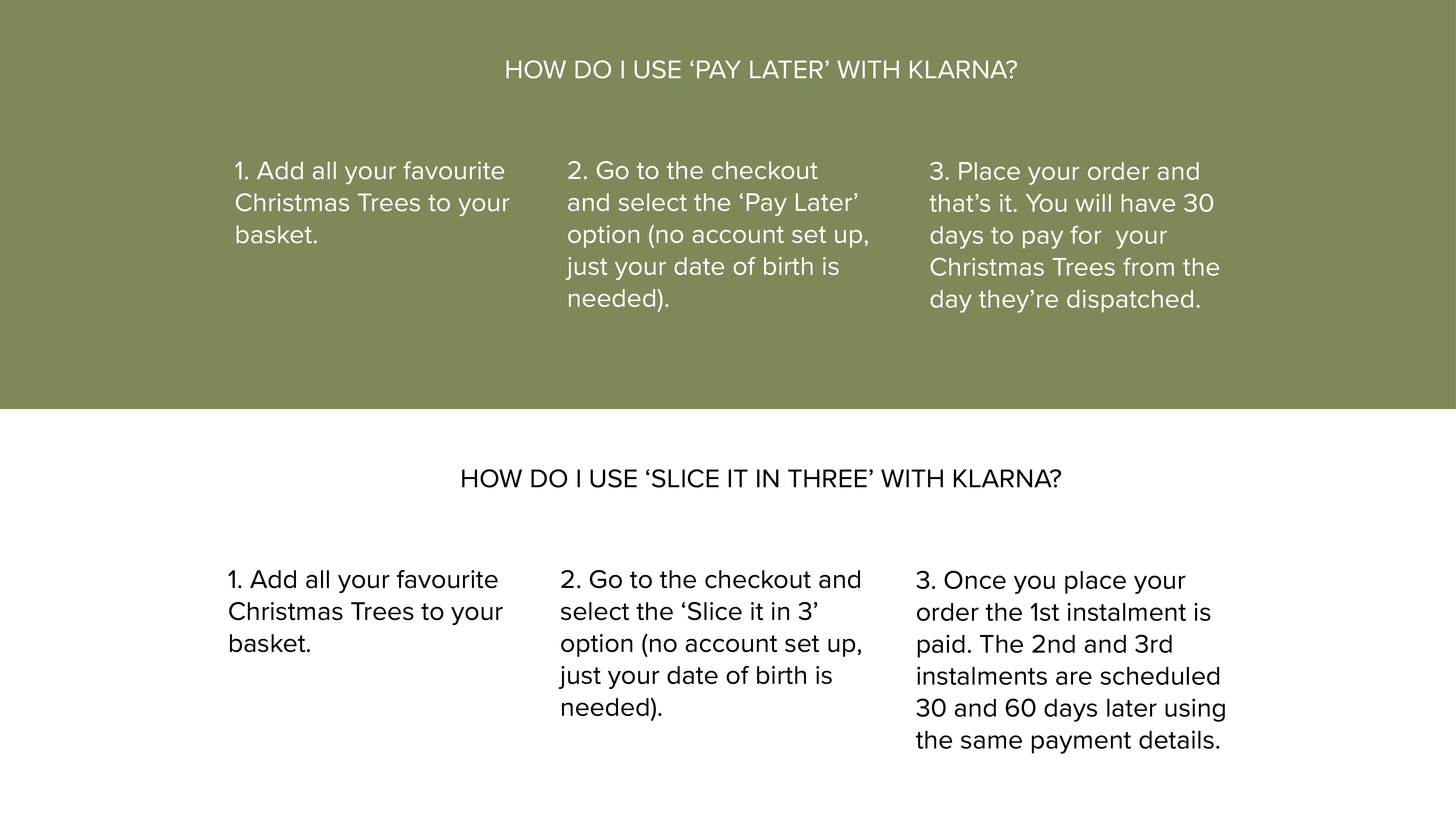 Buy Artificial Christmas Trees with Klarna