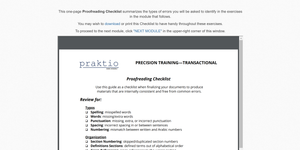Precision Training Weekly: Transactional