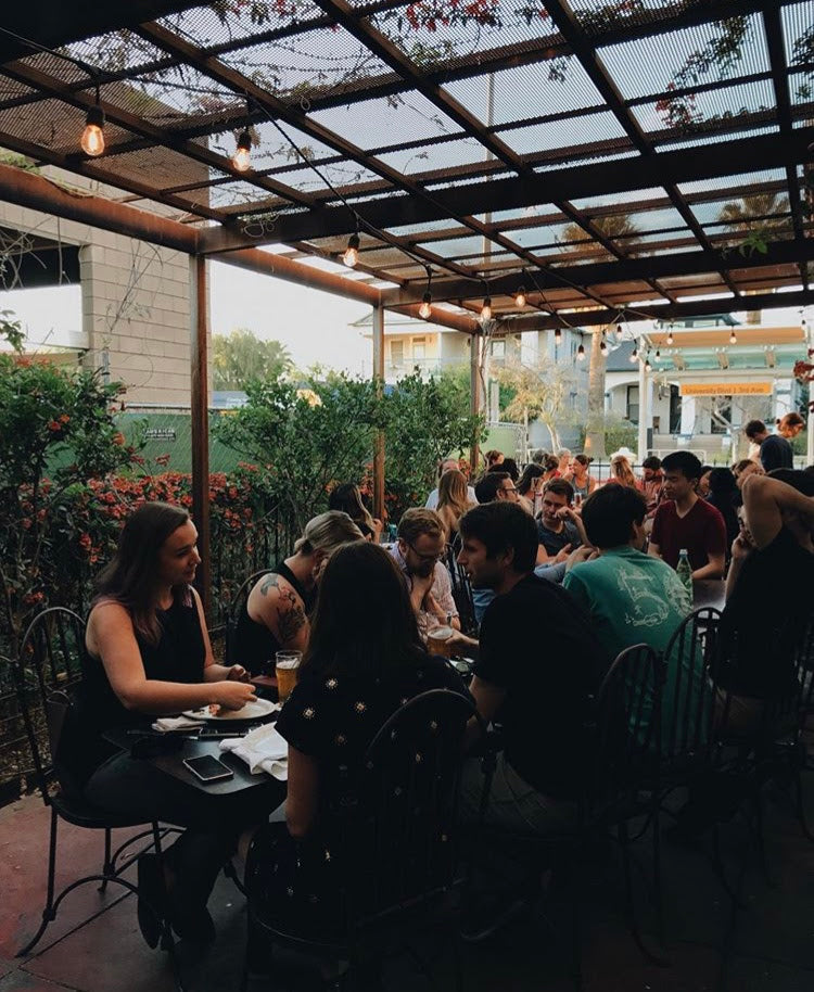 the patio at Time Market