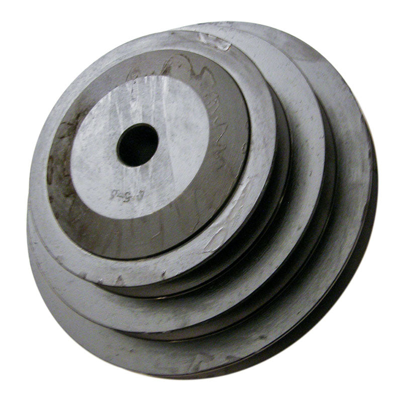 Cast iron 4-5-6 inch step feed pulley with 5/8 (.625) inch bore for 18, 20 and 24 inch slab saws