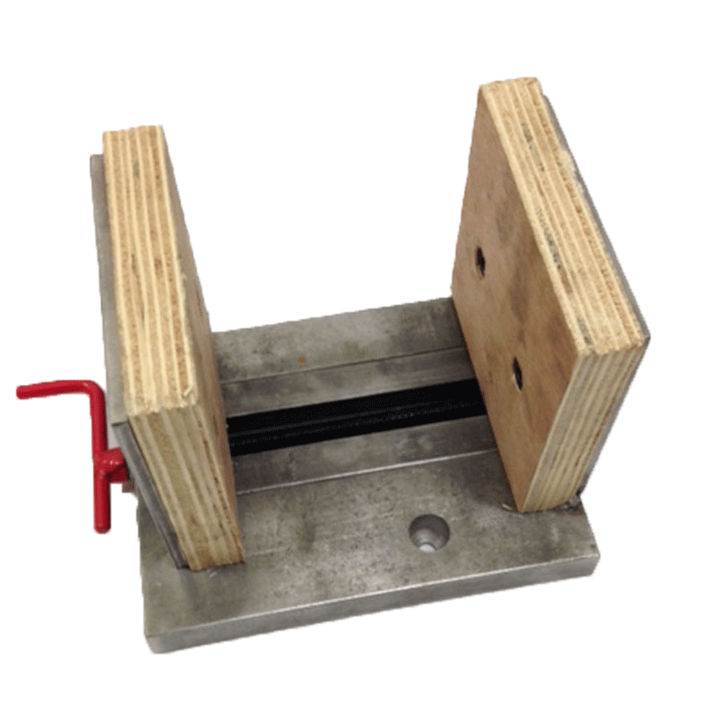 Vertical retrofit vise for HighTone Series and Loretone LS10, LS12 and LS14 Slab Saws