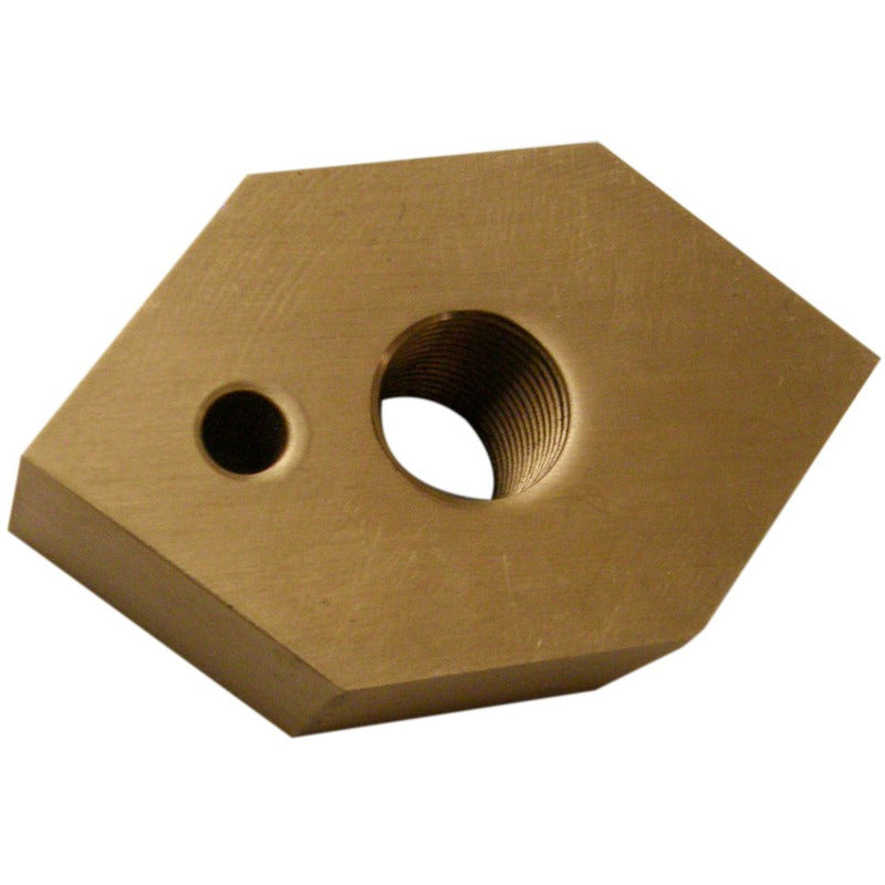 Carriage crossfeed nut for 18 and 20 inch slab saws