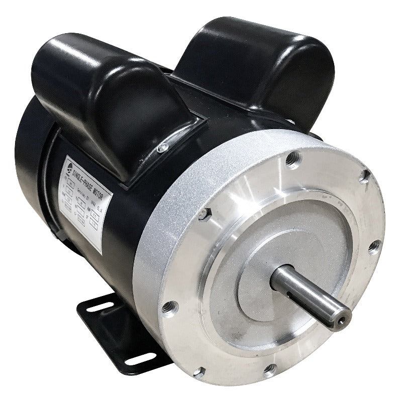 1725 RPM CW rotation1/4 HP dual capacitor 110v motor with NEMA 56 base mount