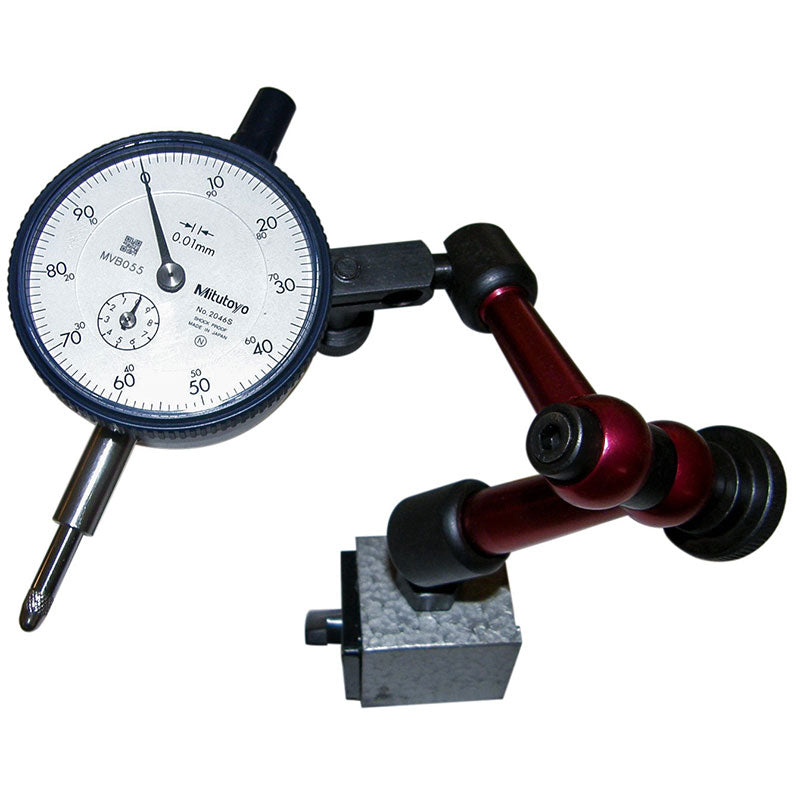 Blade alignment kit with precision Mitutoyo dial indicator and magnetic base