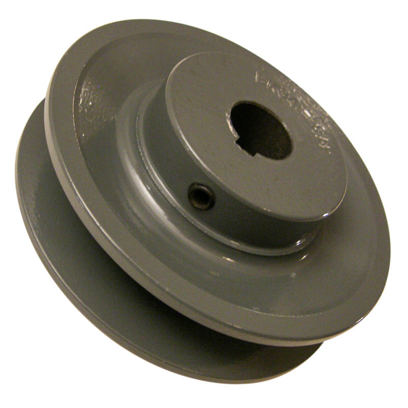 3-11/20 (3.55) inch BK34 cast iron motor pulley with 5/8 (.625) inch bore for 24 inch slab saws