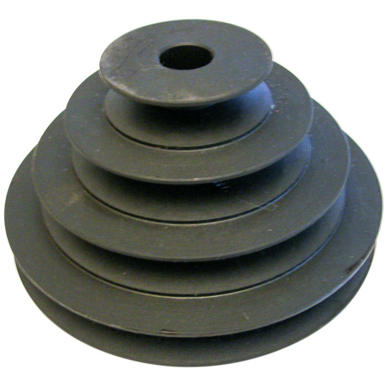 2-3-4-5 inch cast iron step pulley with 5/8 (.625) inch bore for motor shaft for Model BW and of Rock's Lapidary bull wheel grinders