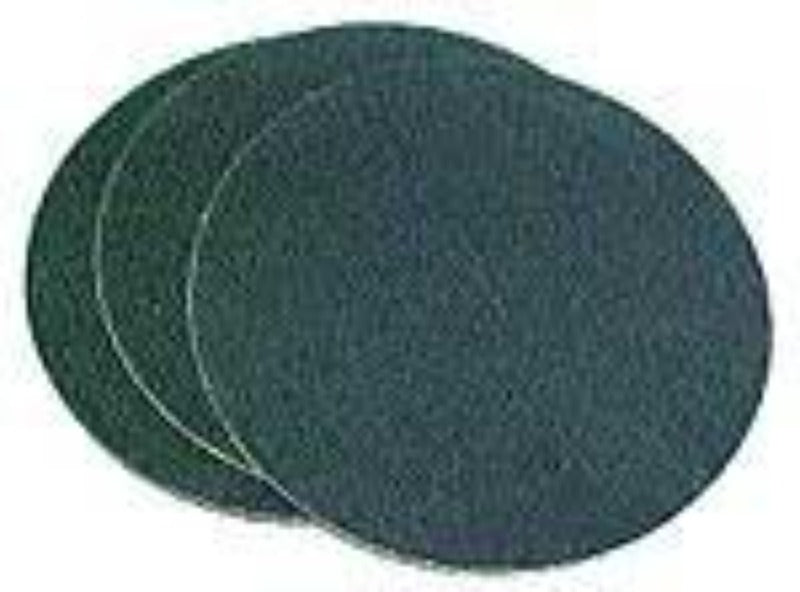 12 inch diameter 220 grit cloth sanding disc with pressure sensitive adhesive backing for wet or dry operation