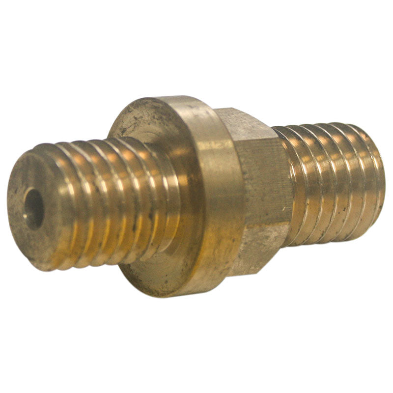 1 inch flow through center fitting with 5/8-11 male to male thread for mounting domes and cones on Model 12FL, 18FL and 24FL, Covington, Steinert and WaterJed Design flat lap grinders