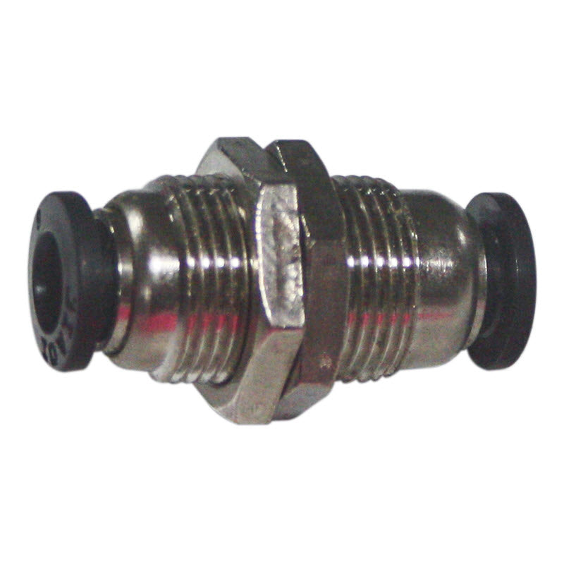 14mm OD 1/4 to 1/4 female quick disconnect bulkhead fitting for Highland Park HTD14 Drop Saw spray assembly