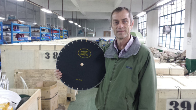 14 inch precision segmented diamond blade .085 inch width, 1 inch arbor and 5/8 inch blade bushing