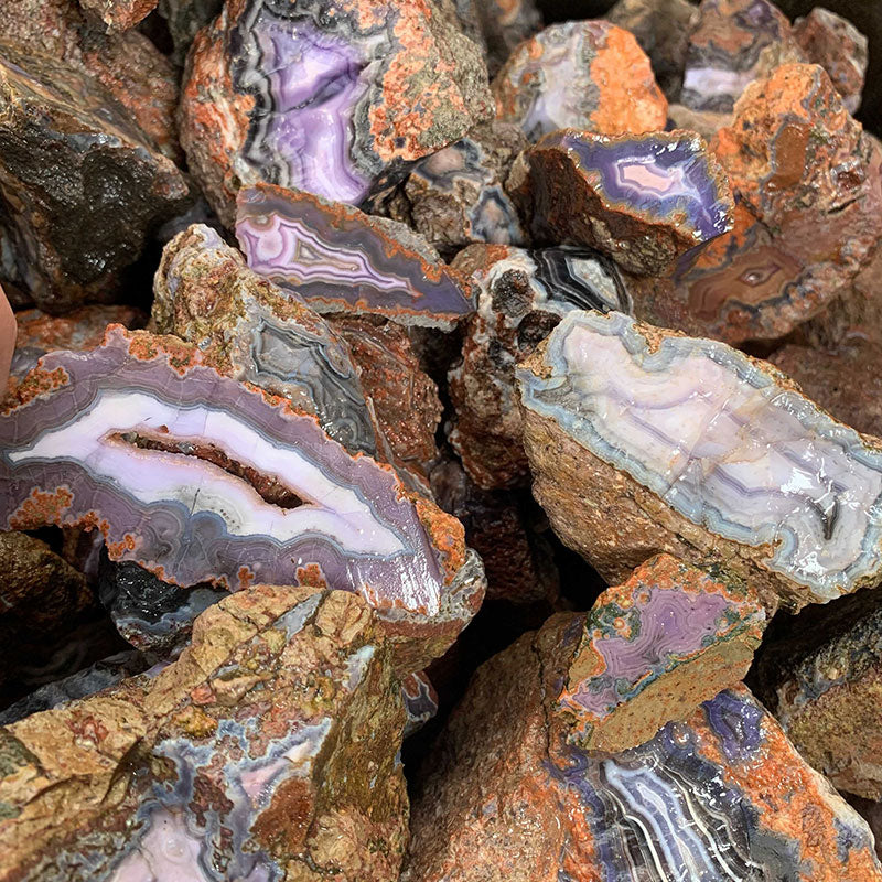Purple Passion (Parcelas) Specimen Grade Agate Rough