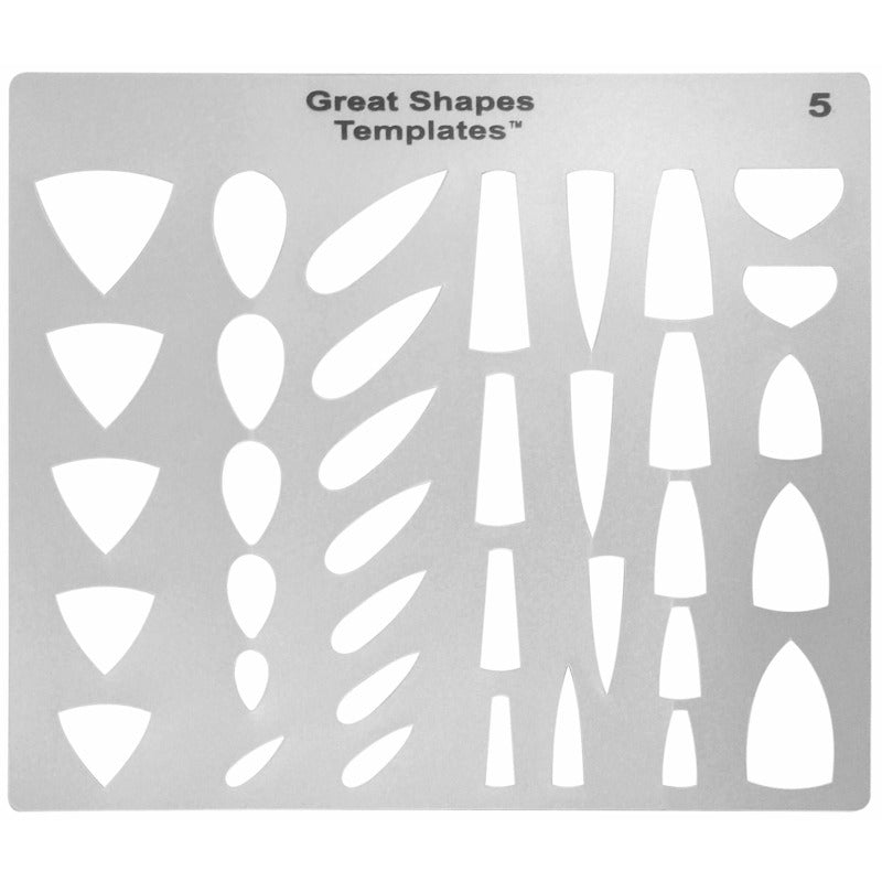 Great Shapes translucent cabochon template