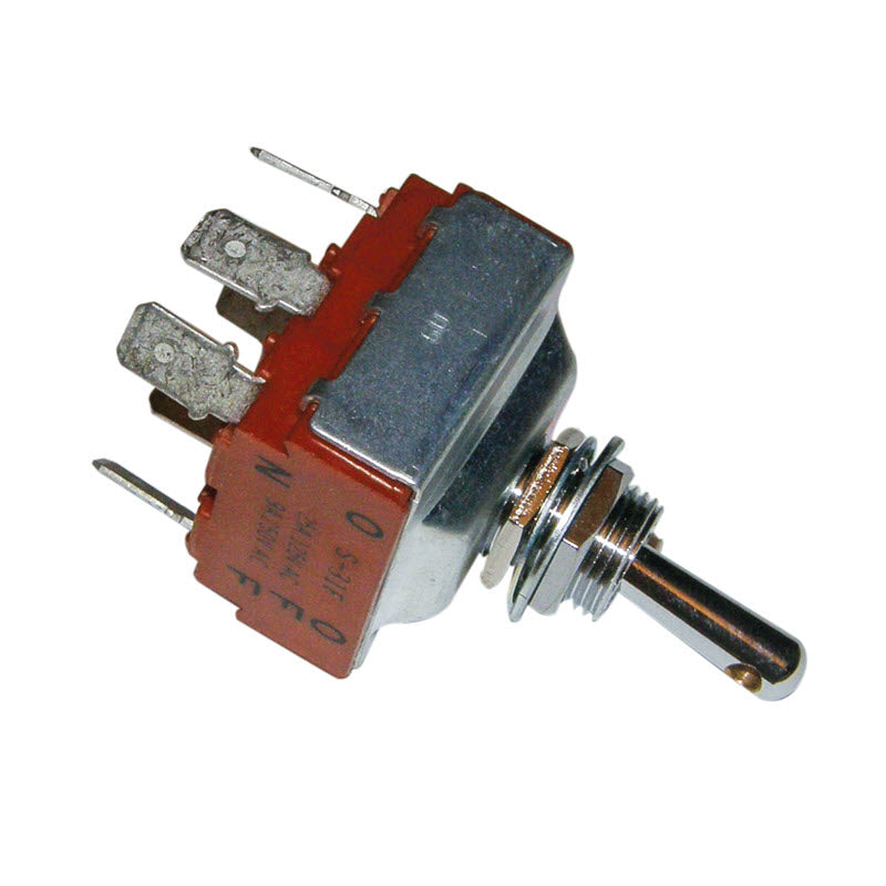Heavy Duty Toggle Switch Through Hole Drilled Toggle Switch (Red)