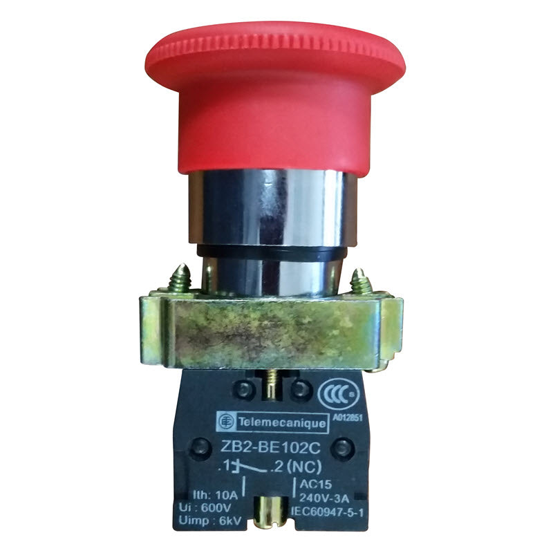 Emergency stop button Telemecanique switch for professional series interlock switch boxes and Model CD1 and CD4 core drills