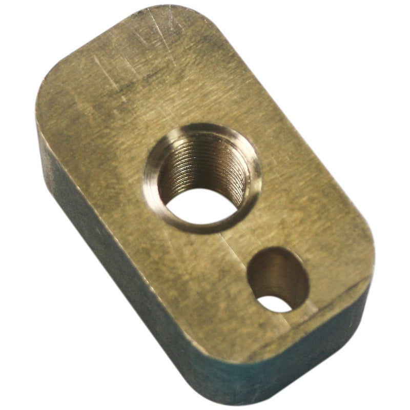 Crossfeed nut for Highland Park Model 12 and HT12 and HT14 slab saws.  Also fits the Highland Park retrofit carriage for the Lortone TS10, LS12 and LS14 Panther slab saws