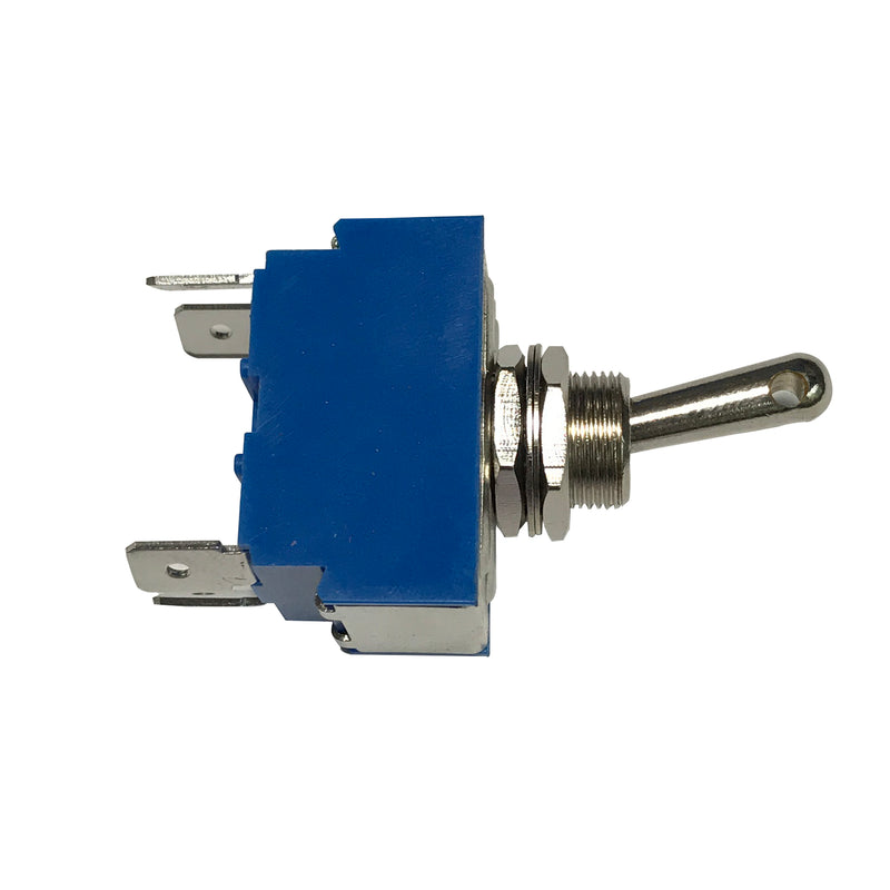 Heavy Duty Toggle Switch through hole drilled switch (Blue)