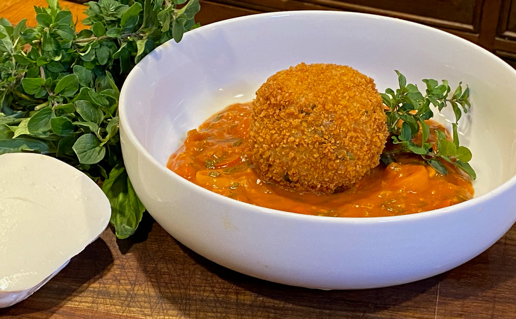Brown Rice Arancini with Chunky Tomato Sauce