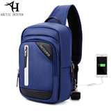 ARCTIC HUNTER  USB Charge Casual shoulder crossbody