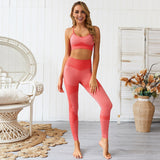Seamless high waist leggings sportswear set