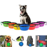 Outdoor Dishes Silicone Collapsible Bowl for Pets