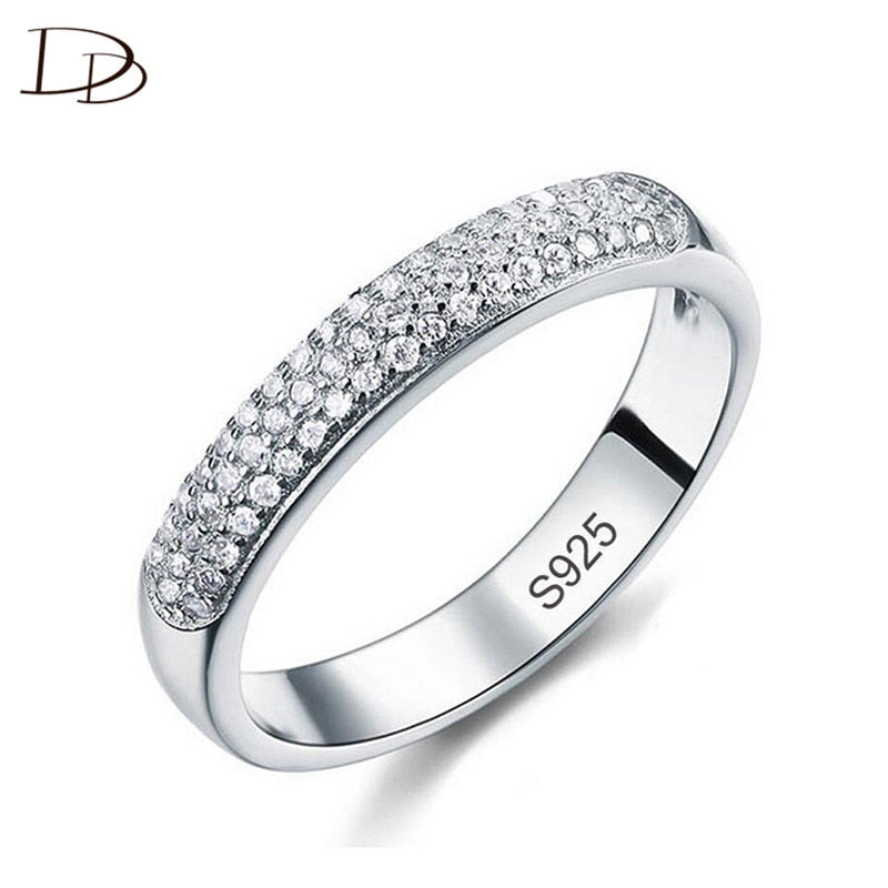 DODO Luxury Full AAA Zircon Rings by Silver Color Band Jewellery