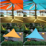 Sun Shelter Waterproof Triangle Sunshade Protection