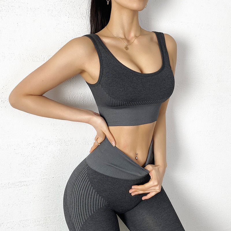 patchwork seamless comfortable leggings set