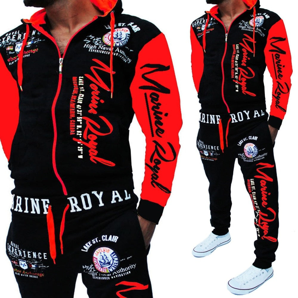 ZOGAA Brand Men Tracksuit with Top and Pant  Set