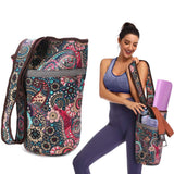 Large zippered sport & yoga mat backpack