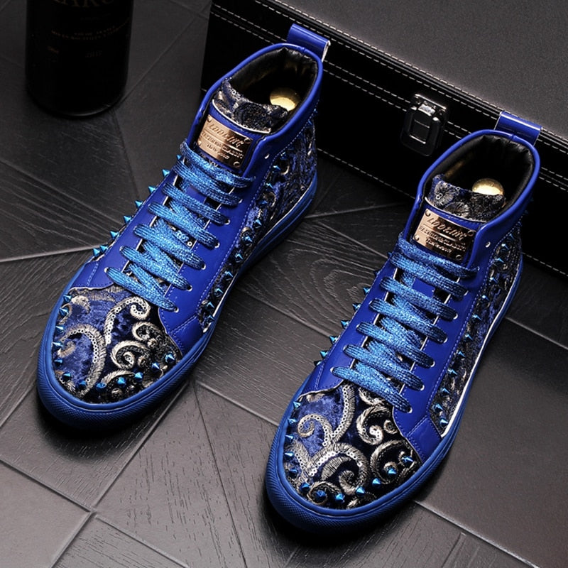 Stephoes Men Fashion Casual Ankle Boots Luxury Sneakers