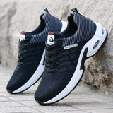 Top Soft Casual Breathable Sneakers with Air Cushion (Black, Red, Blue)