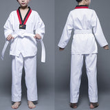 Cotton White Taekwondo Uniform For  Children Adult