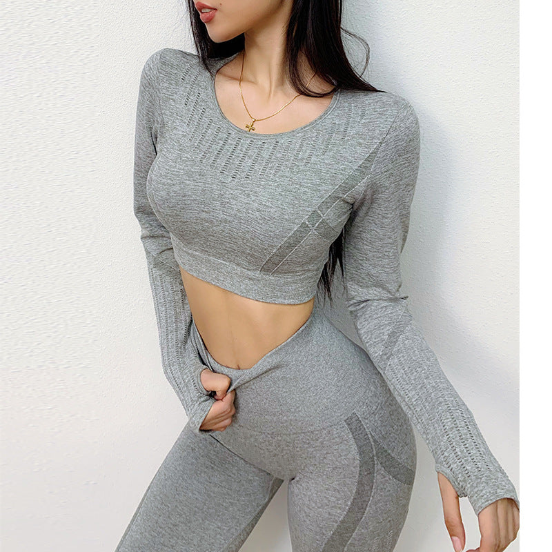Compressed Long Sleeve Sport Outfit  Elastic