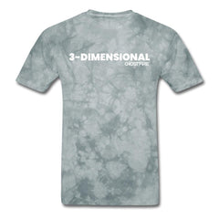 """3-Dimensional"" T-Shirt-Men's T-Shirt-SPOD-grey tie dye-M-GHOST FIRE USA"