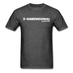 """3-Dimensional"" T-Shirt-Men's T-Shirt-SPOD-heather black-M-GHOST FIRE USA"