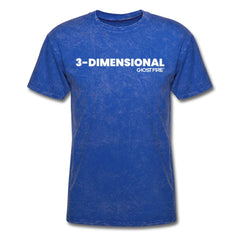 """3-Dimensional"" T-Shirt-Men's T-Shirt-SPOD-mineral royal-M-GHOST FIRE USA"