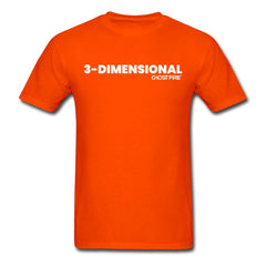 """3-Dimensional"" T-Shirt-Men's T-Shirt-SPOD-orange-M-GHOST FIRE USA"