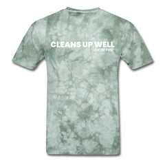 """Cleans Up Well"" T-Shirt-Men's T-Shirt-SPOD-military green tie dye-M-GHOST FIRE USA"