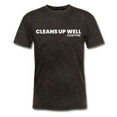 """Cleans Up Well"" T-Shirt-Men's T-Shirt-SPOD-mineral black-M-GHOST FIRE USA"