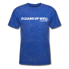 """Cleans Up Well"" T-Shirt-Men's T-Shirt-SPOD-mineral royal-M-GHOST FIRE USA"