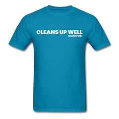 """Cleans Up Well"" T-Shirt-Men's T-Shirt-SPOD-turquoise-M-GHOST FIRE USA"