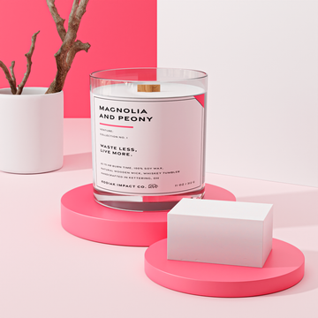 Magnolia and Peony | Zero Waste Candle